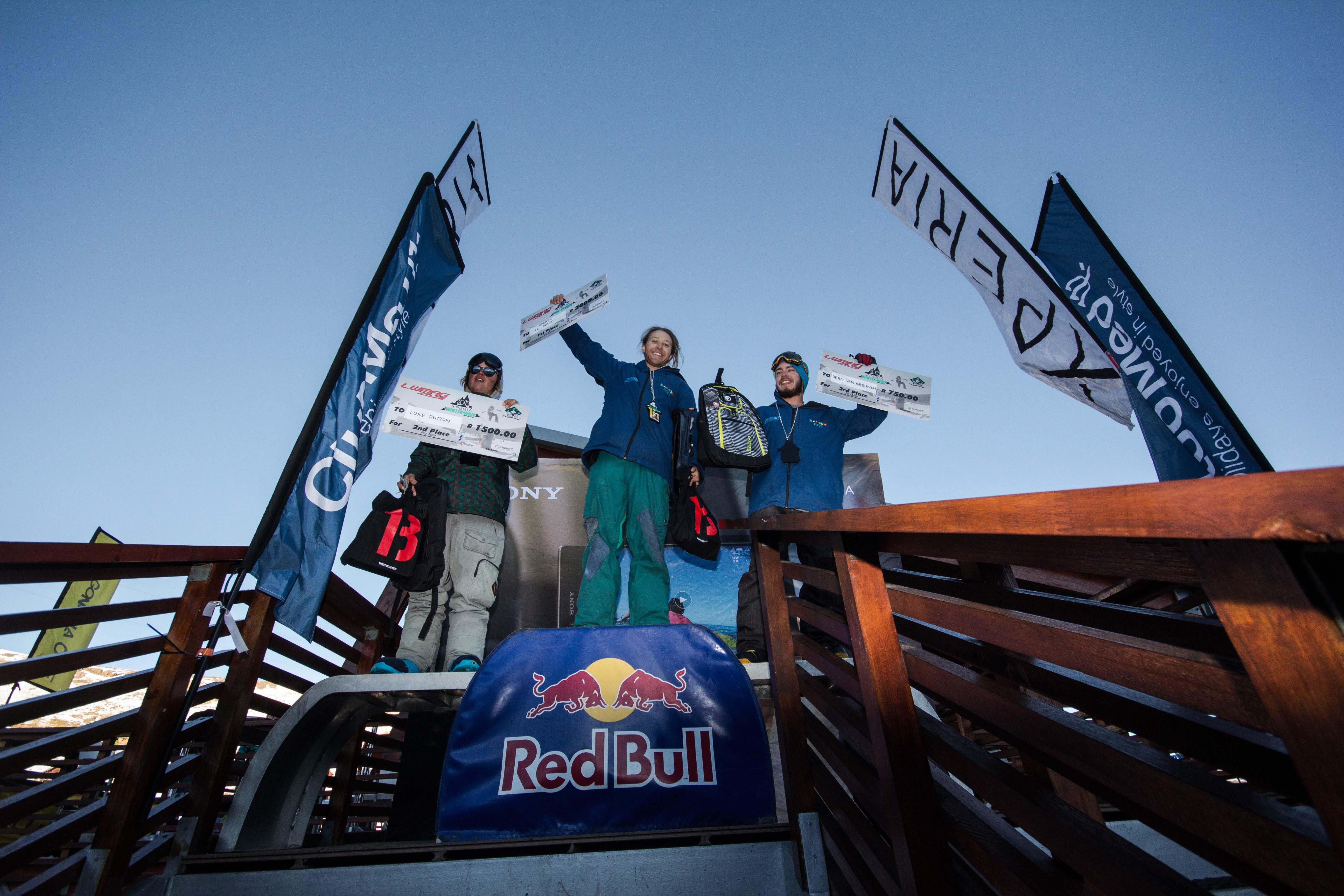 Pro Men podium at Xperia Winter Whip 2016