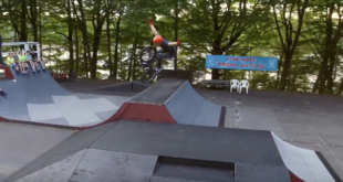 Sweet BMX edit of Matty G Duffy seasoning the Independent Lake Camp park