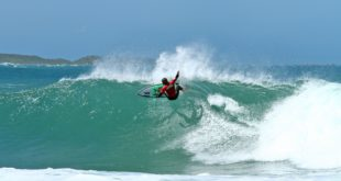 Angelo Faulkner surfing his way through Day 1 of the Billabong Junior Series