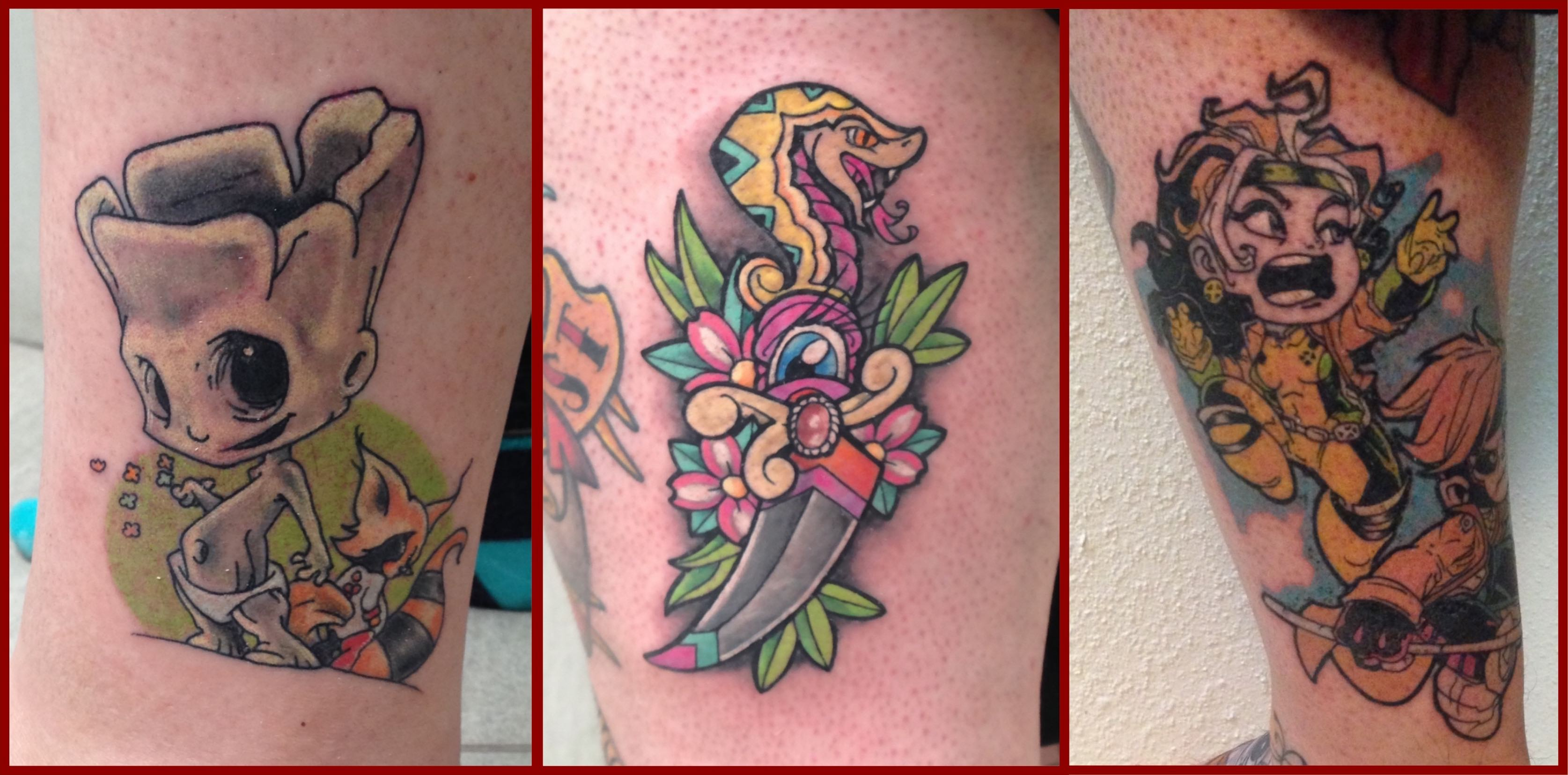 A selection of tattoos done by Alastair Magee