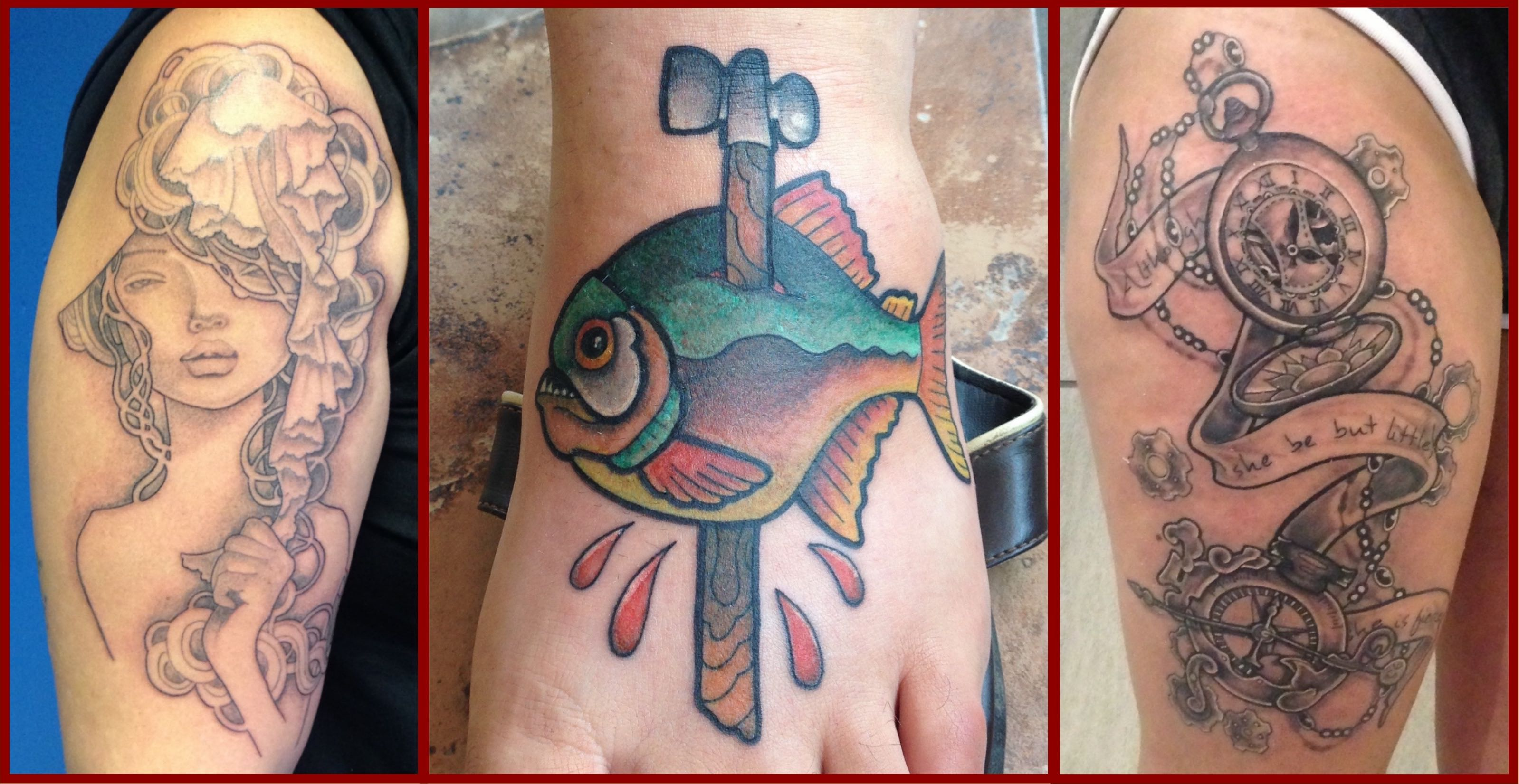 A selection of tattoos done by our Tattoo Artist of the Week, Alastair Magee