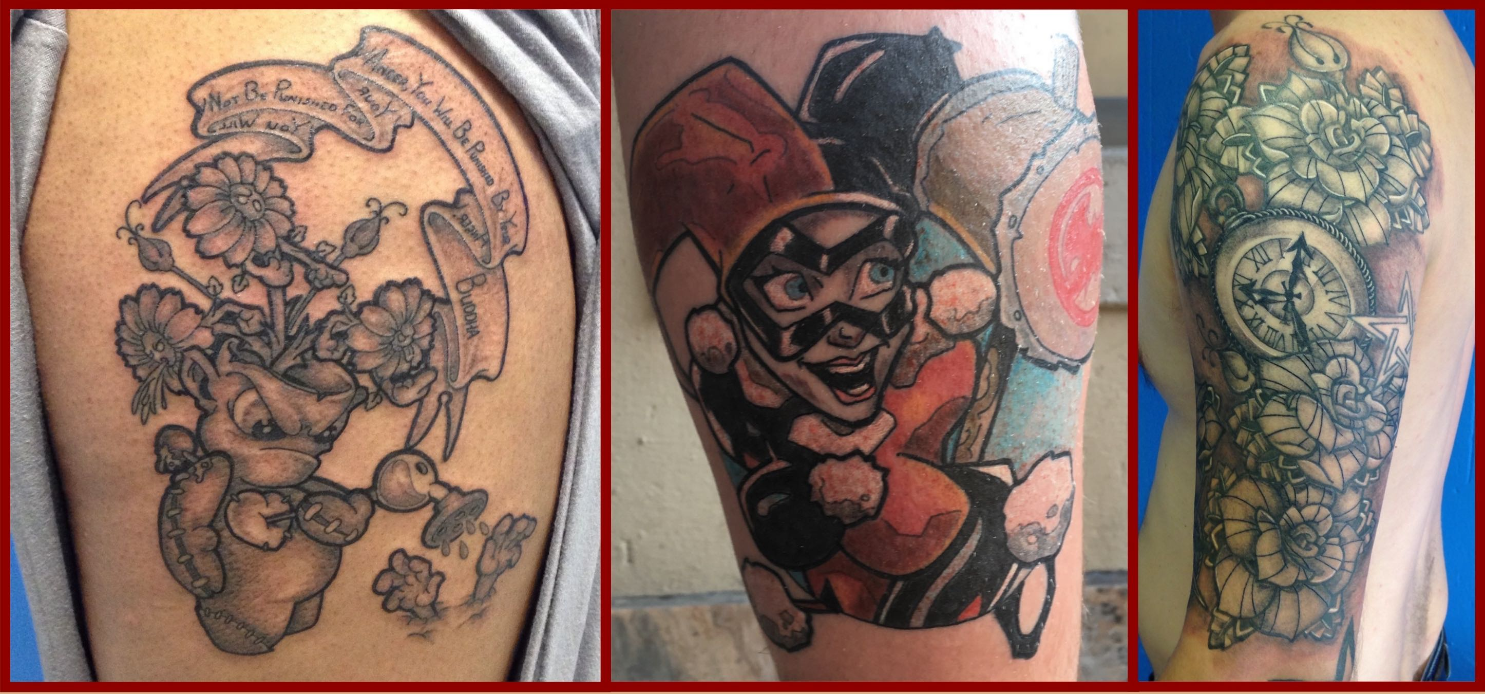 A selection of tattoos done by Tattoo Artist Alastair Magee