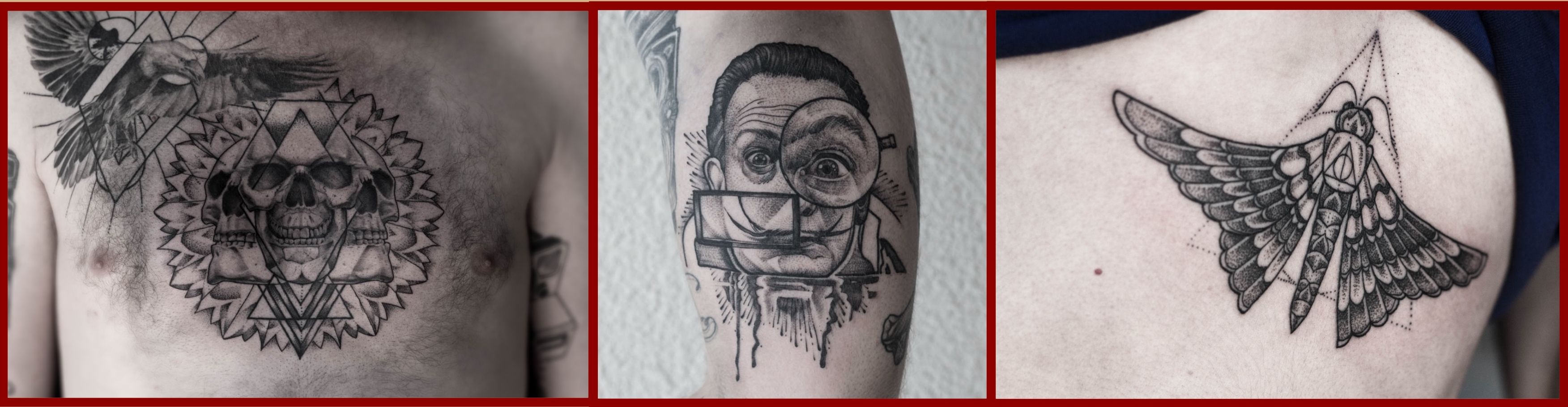 A selection of tattoos by Sean Perrins