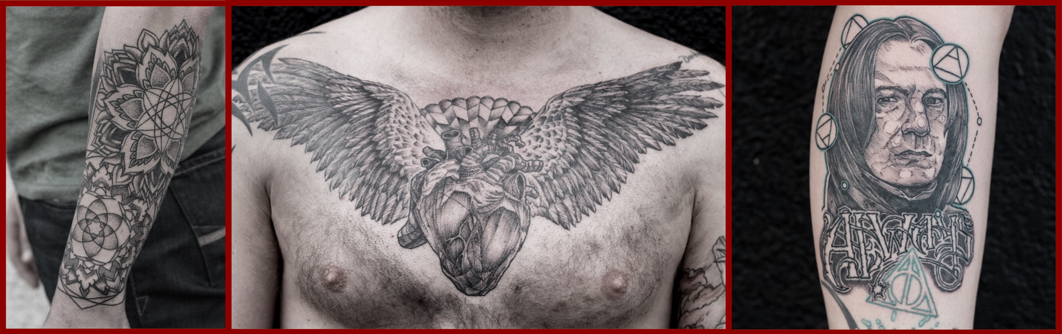 Tattoos work by the talented Sean Perrins