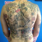 Back piece tattoo by Alastair Magee