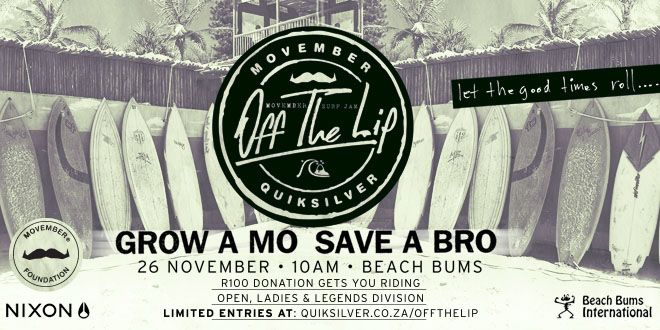 Details for the 2016 Quiksilver Off The Lip Movember Surf Jam