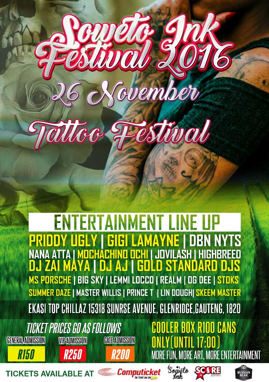 The inaugural Soweto Ink Festival set to bring local tattoo enthusiasts together
