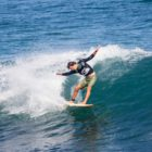 Chris Leppan surfing his way to victory at the Quiksilver Off The Lip Movember Surf Jam