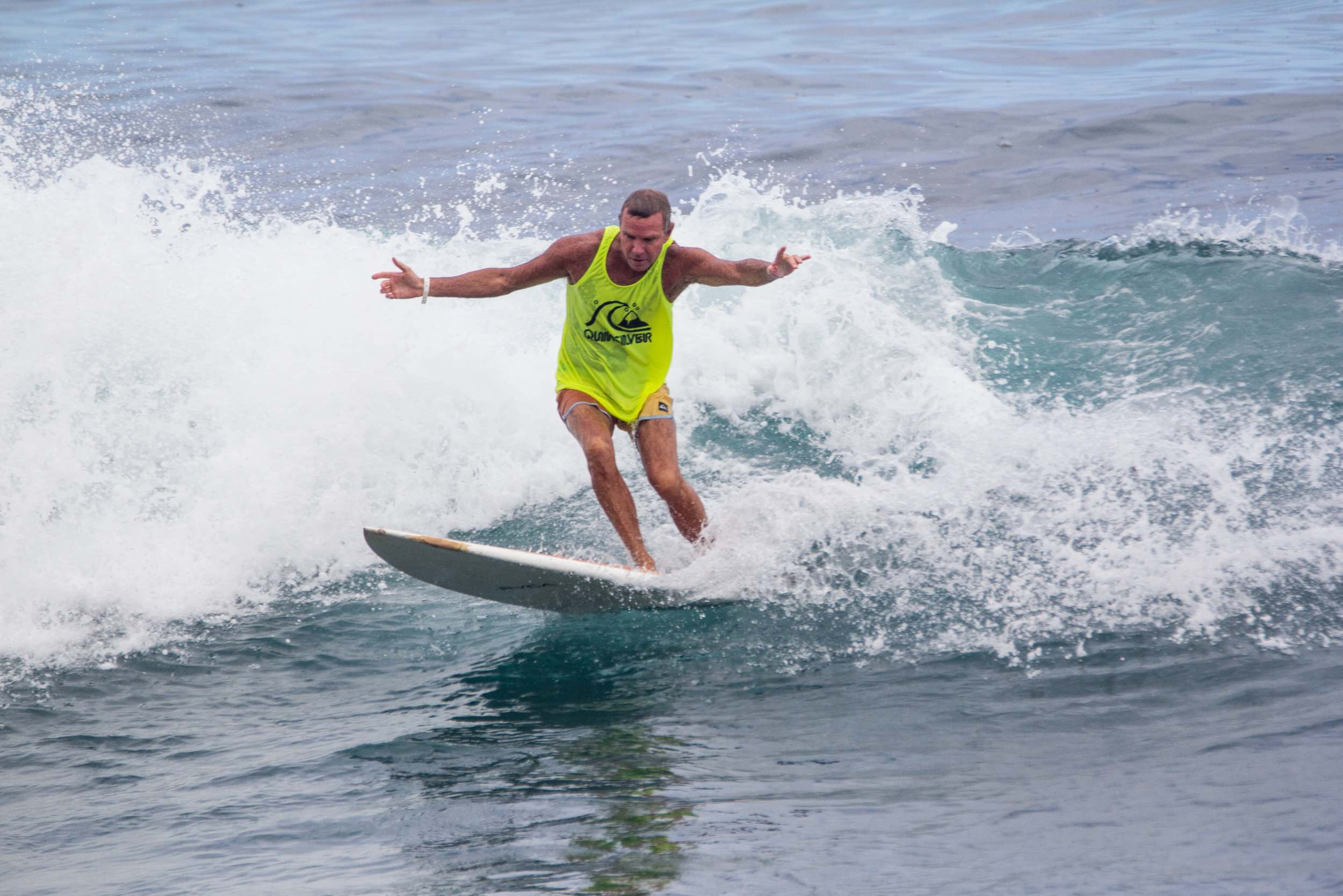 Grant Gilmore surfing his way to victory at the Quiksilver Off The Lip Movember Surf Jam