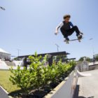 Brandon Valjalo showcasing his skateboarding skills at Red Bull Unlocked 2016