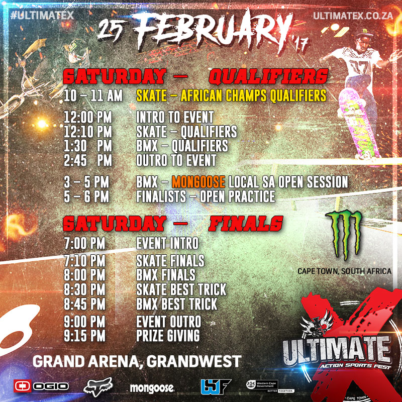 Ultimate x 2017 schedule bringing the best in Action Sports