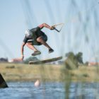 Matti Buys impressing the judge to 2nd place at the SA wakeskate tour