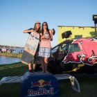Ladies podium at stop 1 of the South African Wakeskate Tour