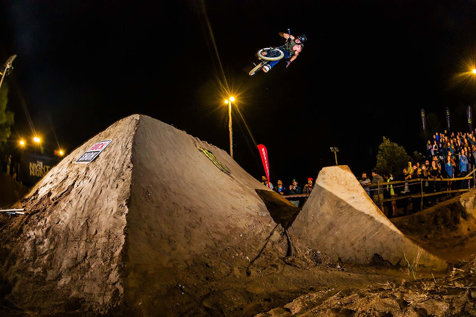 Declan Brooks tricking his way to first place in the BMX division at The Night harvest 2017