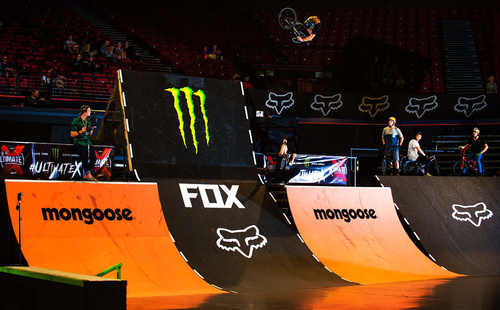 Greg Illingworth showcasing his BMX skill at Ultimate X 2017