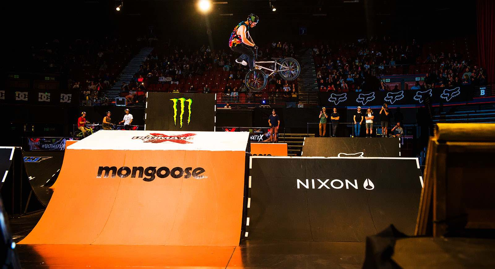 Brock Horneman riding his way to victory at the Ultimate X 2017 BMX contest