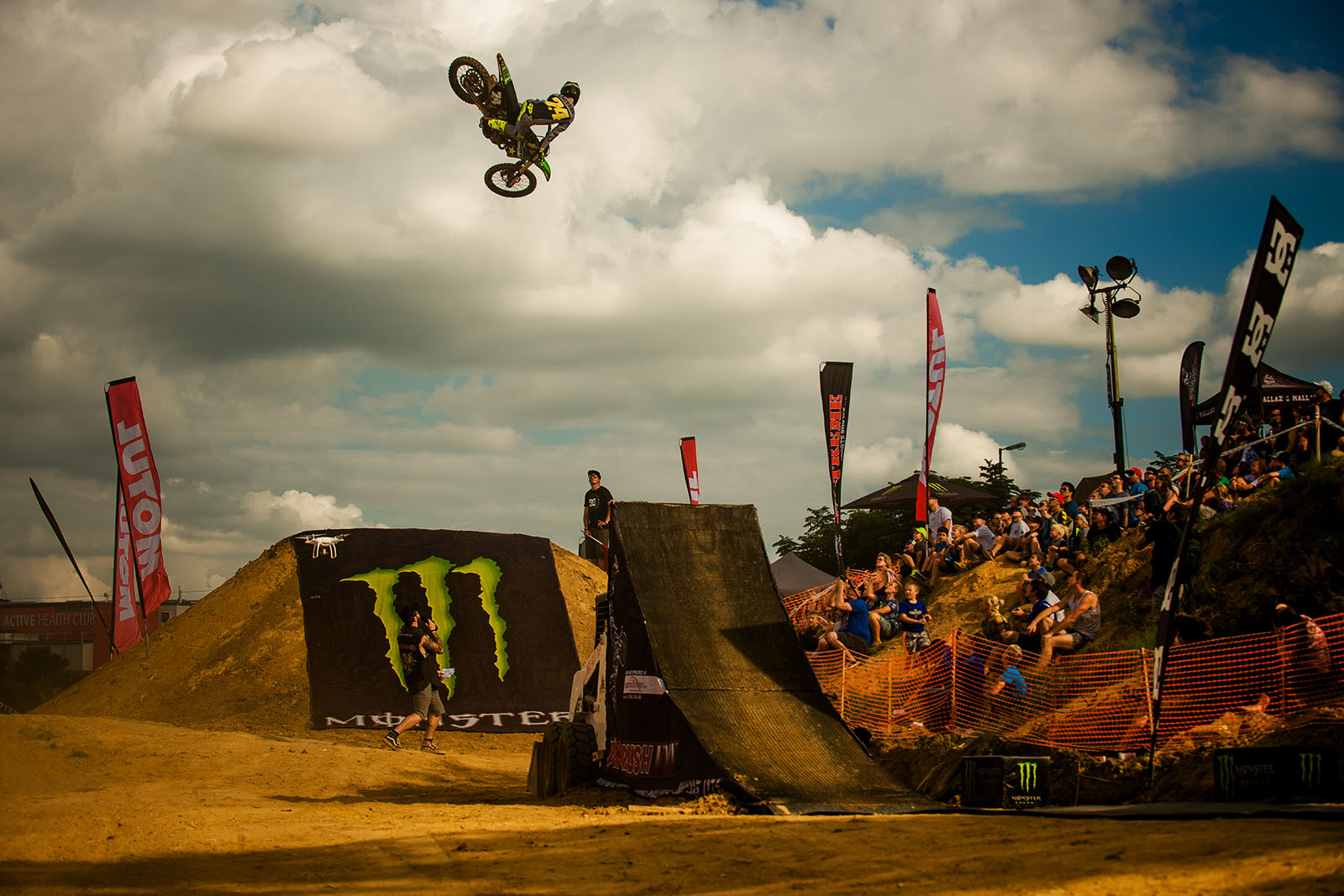 Danny Lailvaux with a motocross style whip at King of the Whip