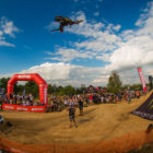 Freestyle motocross rider Dallan Goldman competing at King of the Whip