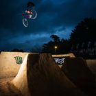 EWP_9979 Style master Nico Vink with a beatiful toboggan over the first