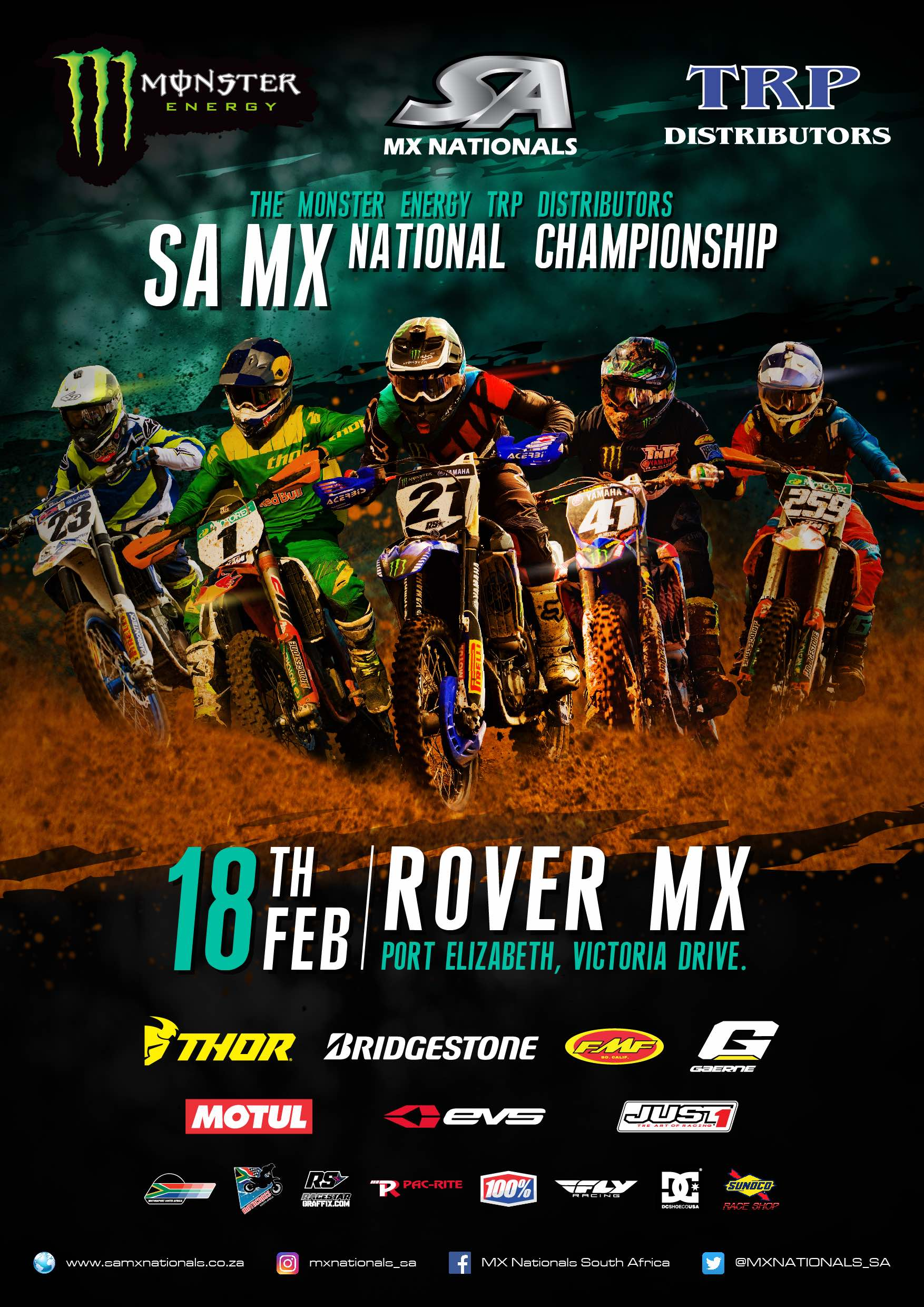 Details for Round 1 of the 2017 Monster Energy TRP Distributors SA National Motocross Championship