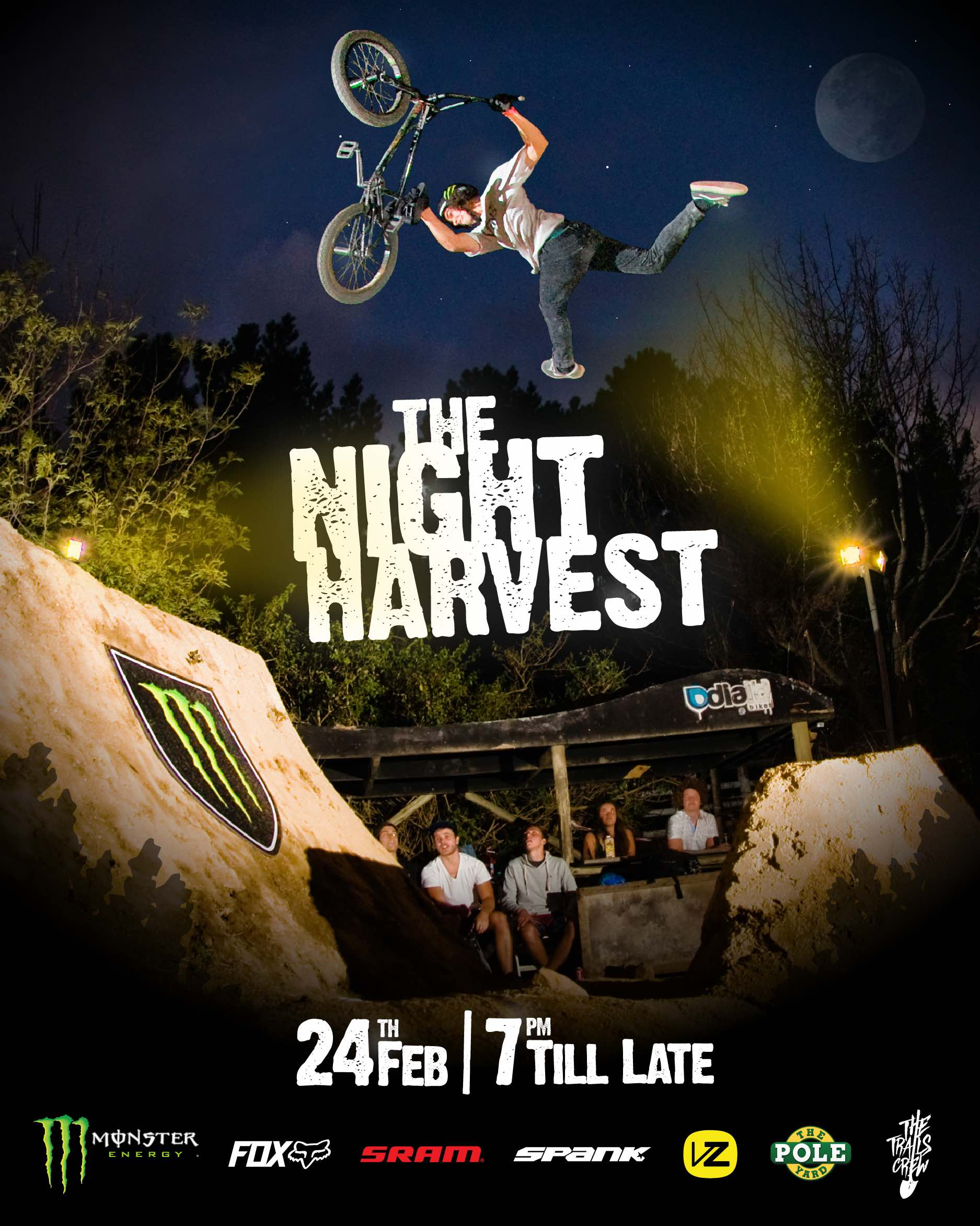 The Night Harvest is back see ing the world's best MTB and BMX dirt riders back in South Africa to compete