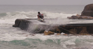 Enjoy some Wakeskating mastery thanks to Matti Buys and Kaylib Louw as they session their local spot on the South Coast of South Africa.