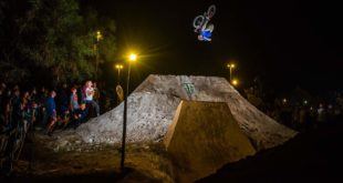 Tom Isted with a Double Barrel Roll at The Night Harvest 2017 to take the Best Trick win