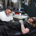 Wesley von Blerk tattooing a client at Handstyle 7th Street tattoos