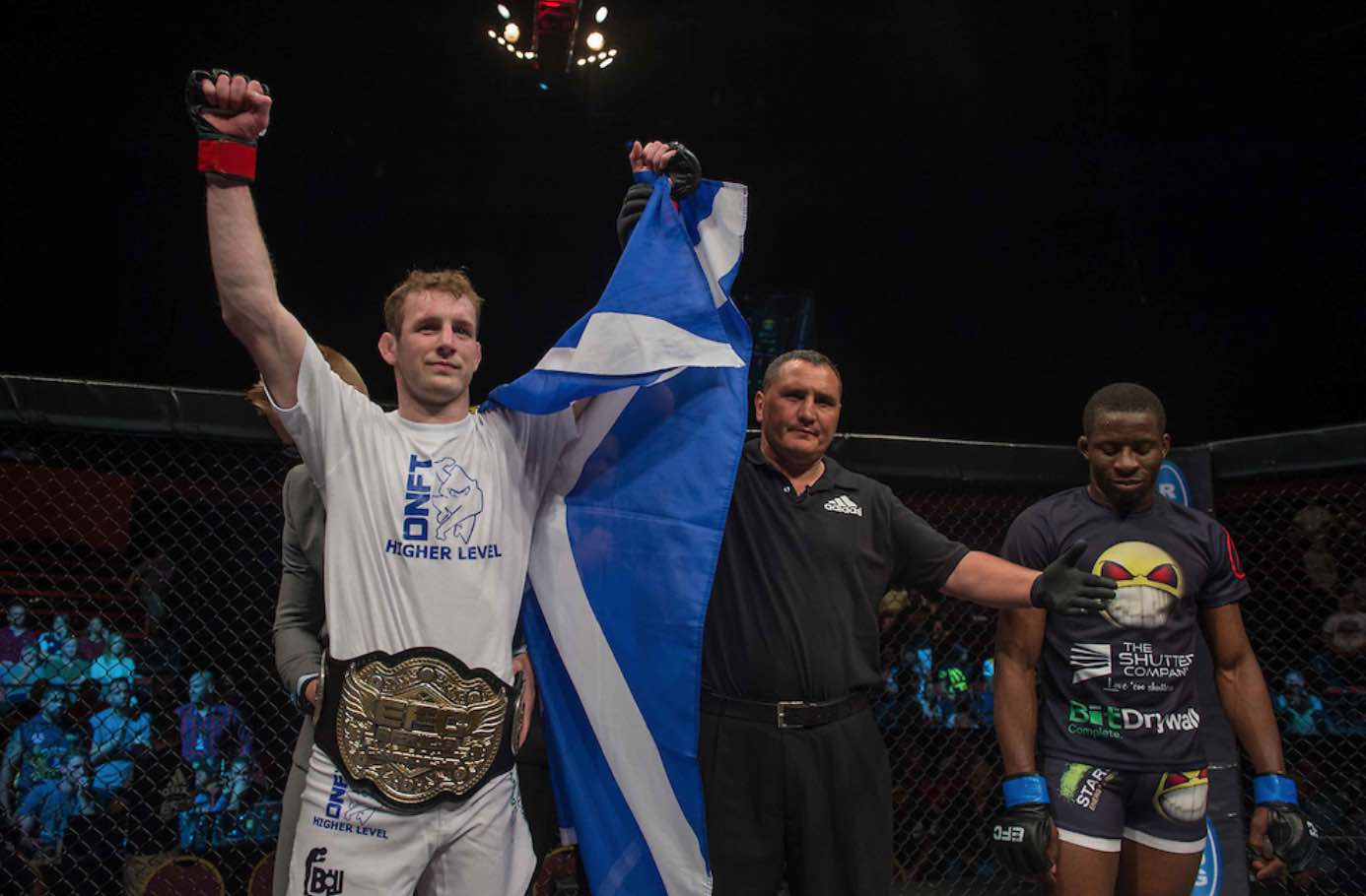MMA fighter Daniel Henry takes the Featherweight Title at EFC 57