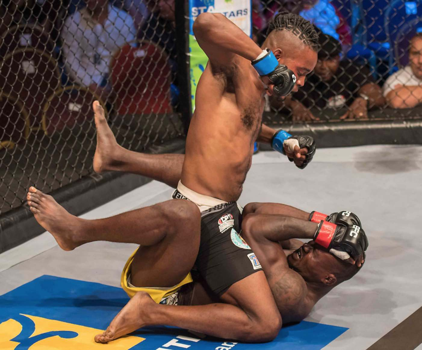 Mixed Martial Arts fighters Anicet Kanyeba and Gorilla Ossoko face each other at EFC 57