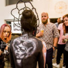 Body art at the launch of FH Black
