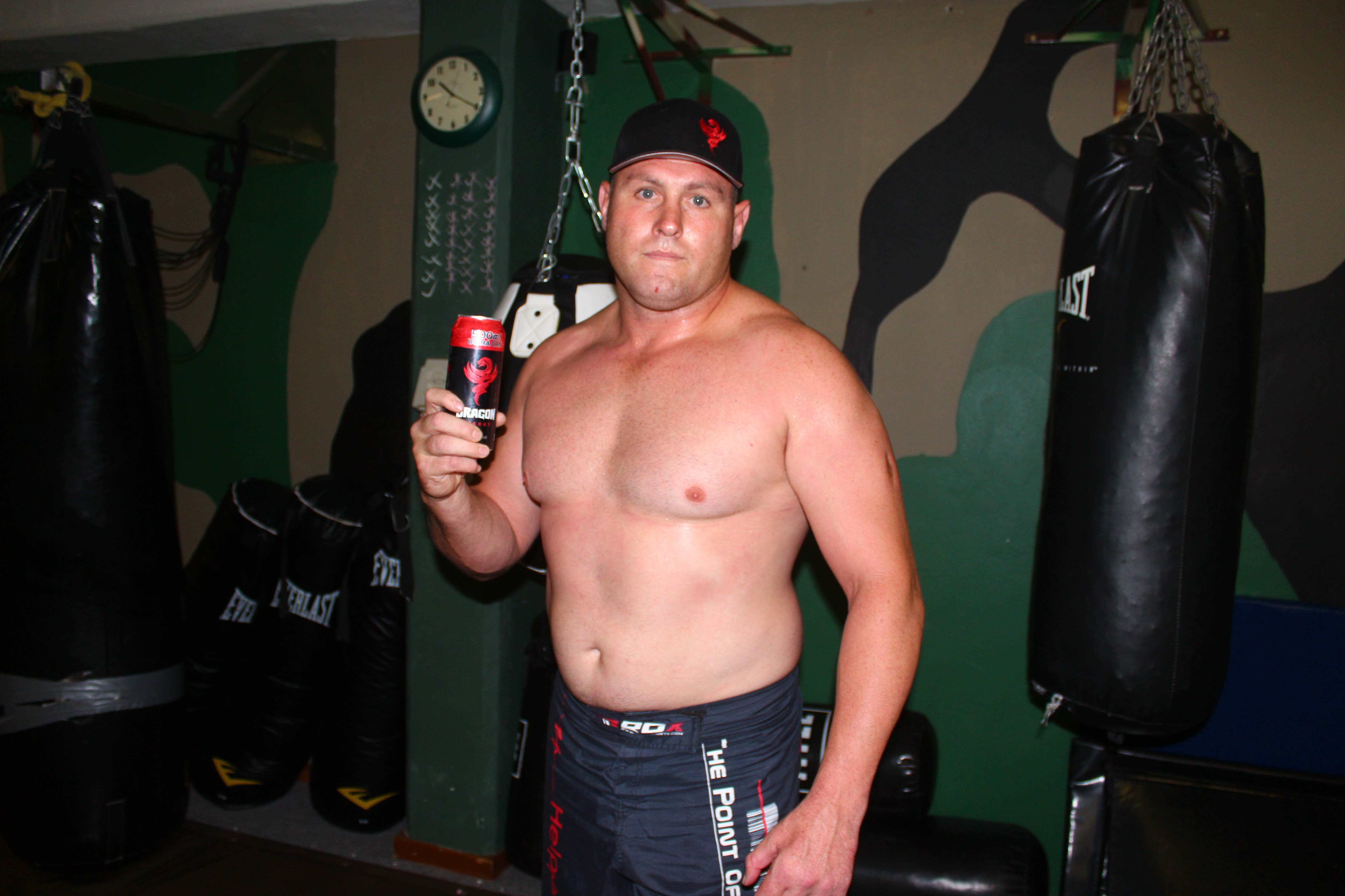 Mixed Martial Arts fighter Michael Vermeulen sponsored by Dragon Energy Drink
