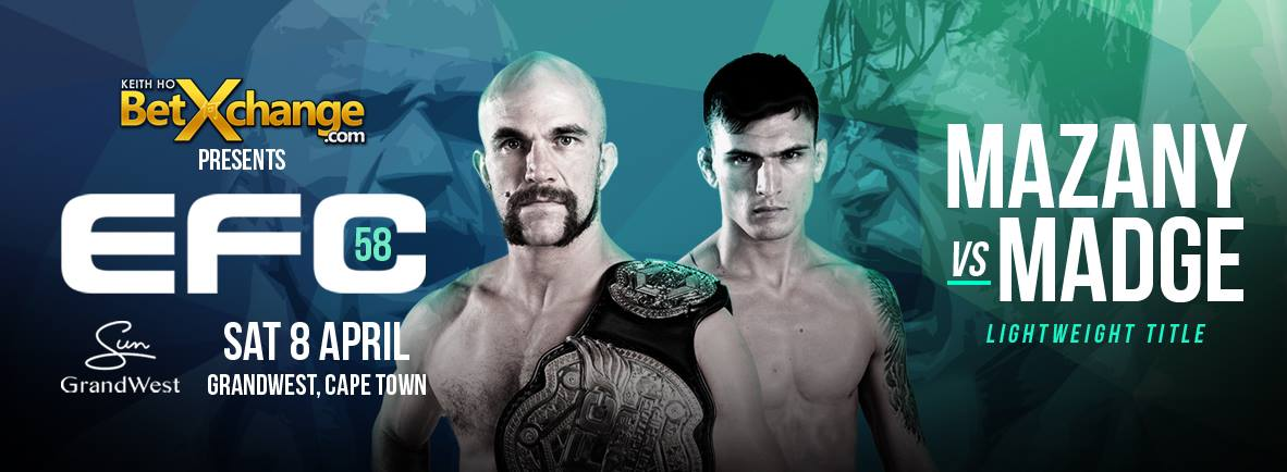 A stacked MMA fight card is set to take on Cape Town at EFC 58