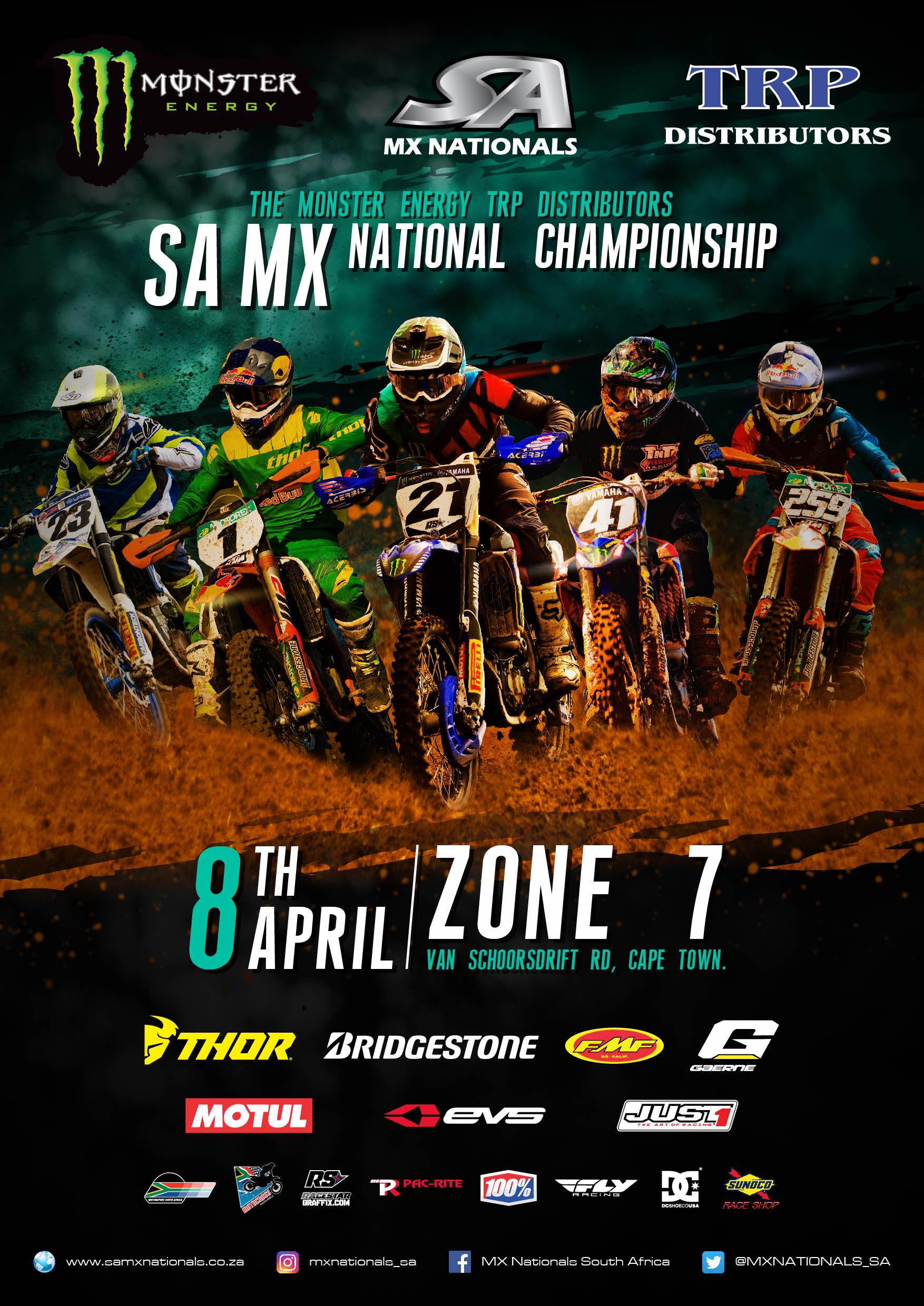Details for Round 2 of the 2017 Monster Energy TRP Distributors SA National Motocross Championship