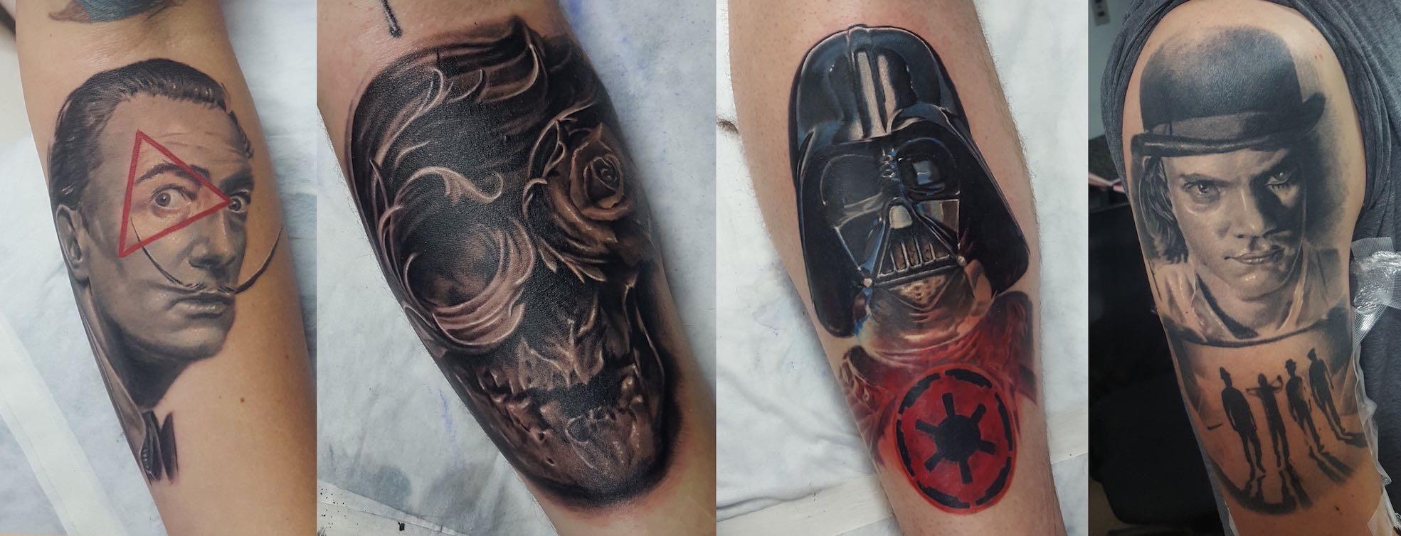 Tattoos done by Nicholas Werner Taljaard of Fallen Heroes