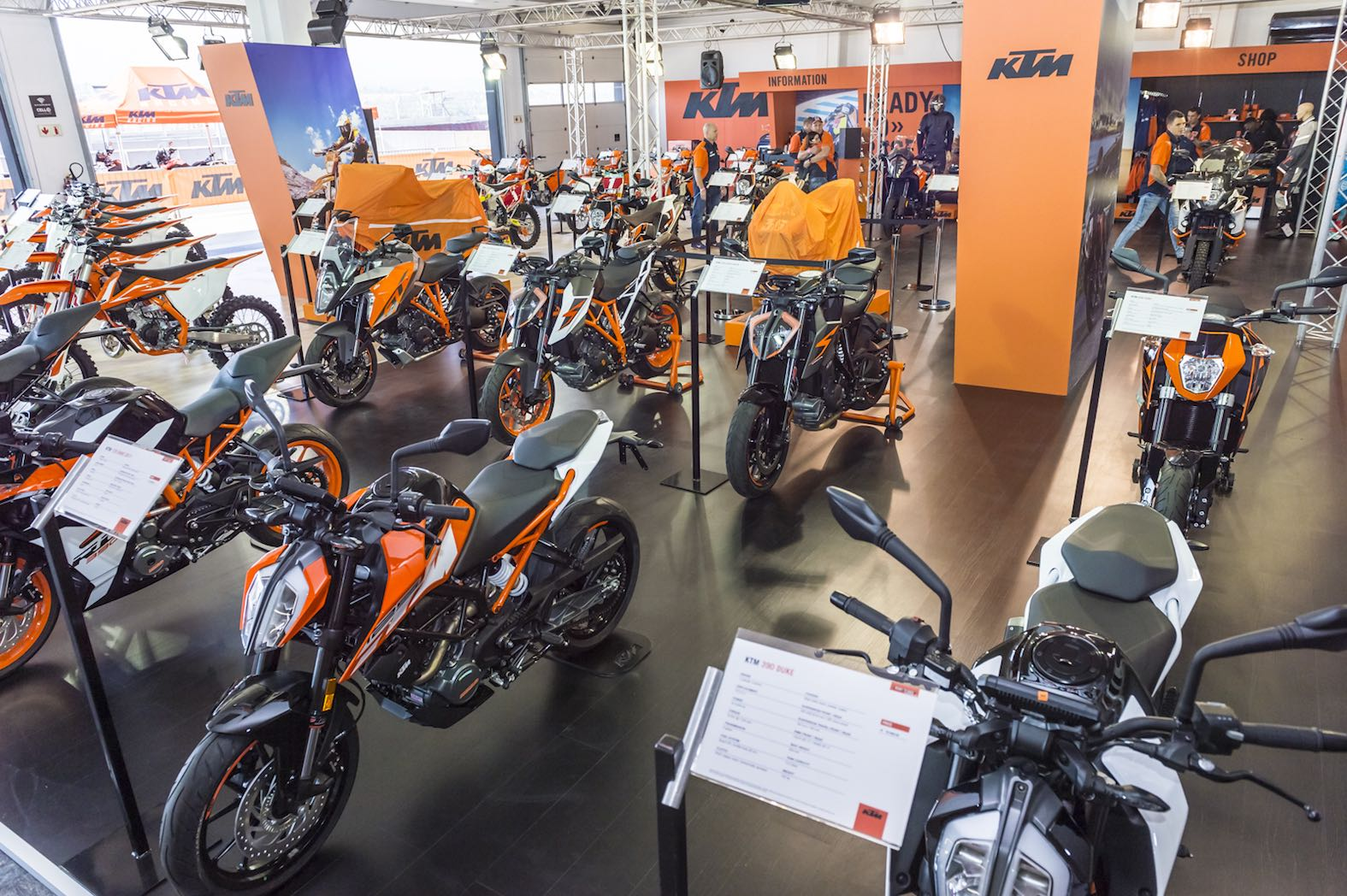The impressive KTM stand at the 2017 SA Bike Festival