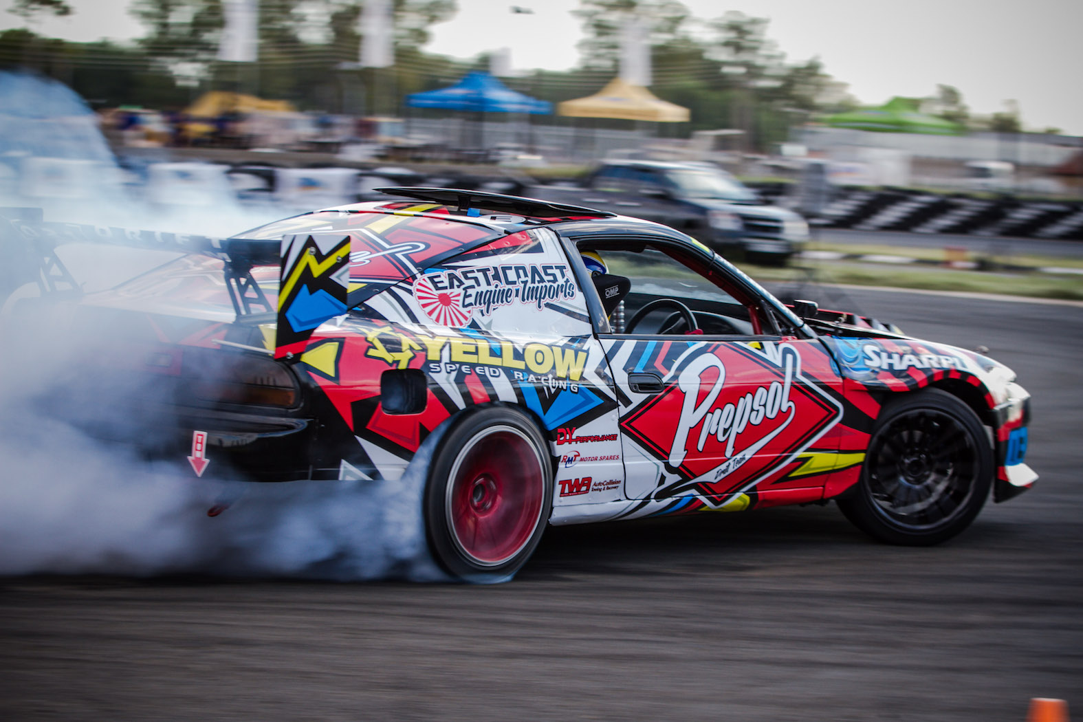 Drifting at its best at round 1 of the Supadrift Series