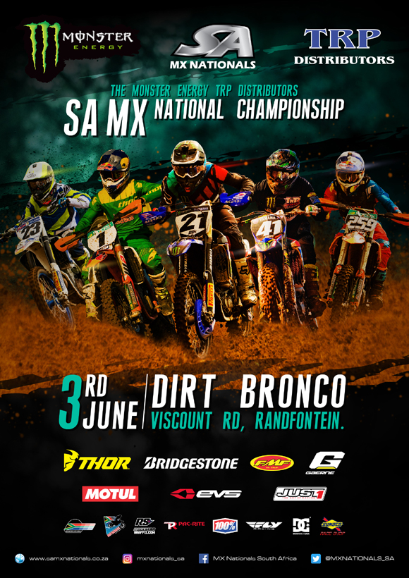 Details for Round 4 of the 2017 Monster Energy TRP Distributors SA National Motocross Championship taking place at Dirt Bronco in Johannesburg