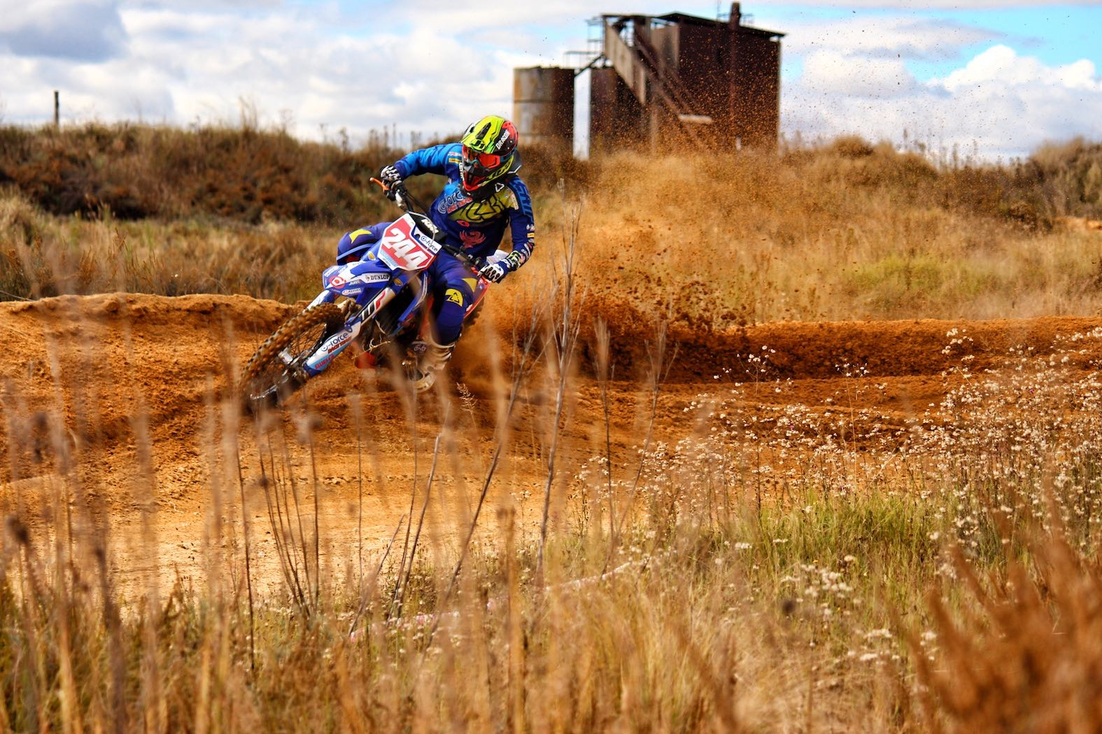 Nanda Clowes riding at Sandtrax in Sasolburg