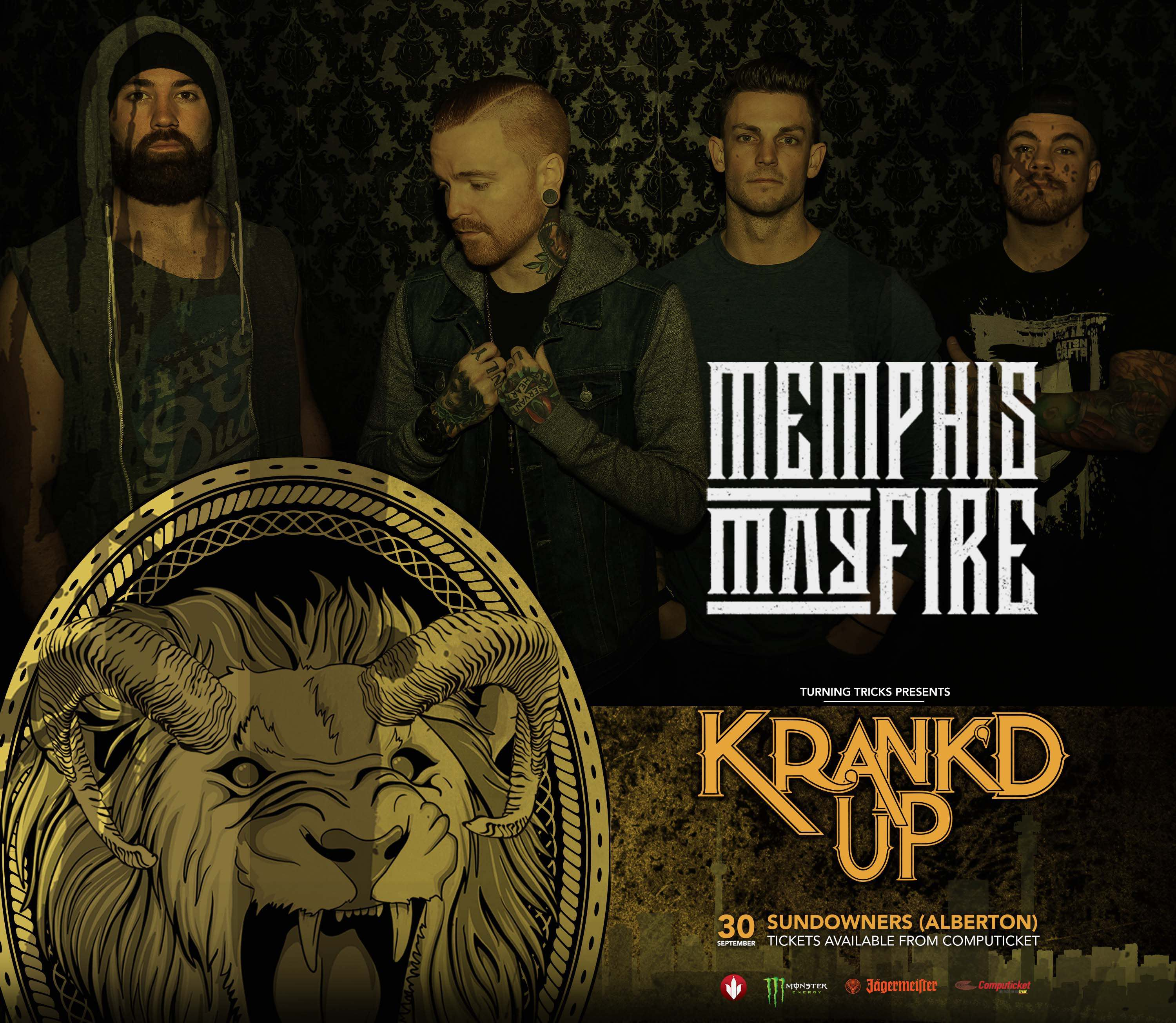 Memphis May Fire announced as the headline internationals act for Krank'd Up 2017