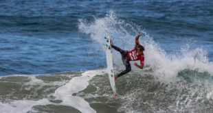 Samuel Pupo surfing his way to victory at the Billabong Junior Series in Ballito