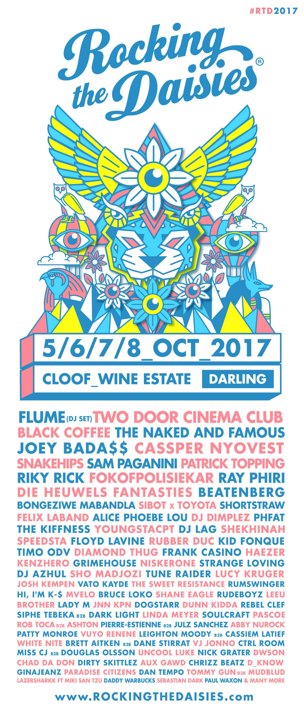 Full line-up for Rocking the Daisies 2017 announced.