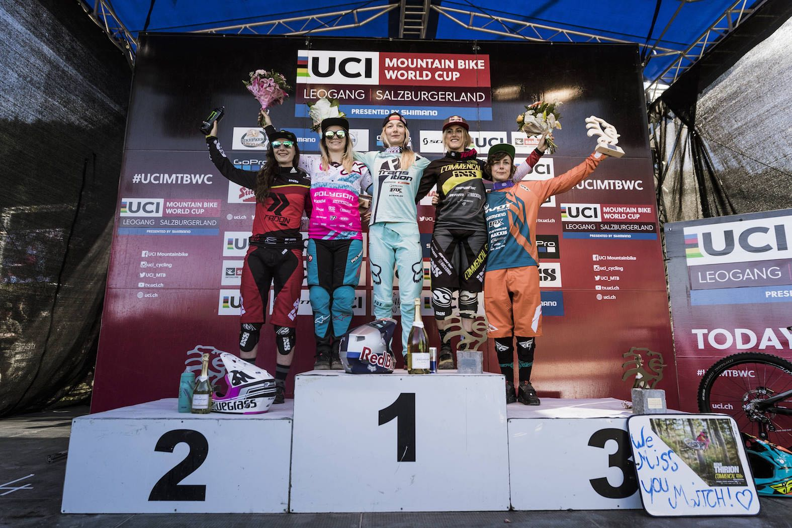 2017 Leogang UCI Downhill MTB World Cup Women's Podium