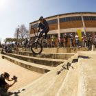 Nathi Steeze showcasing his riding skills at BMX Day 2017