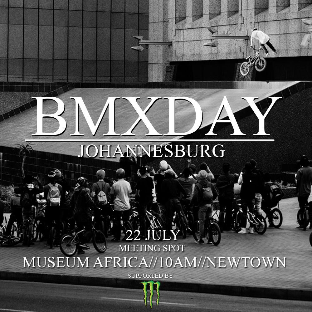 It's that time of year when BMX riders gather in celebration of BMXDAY. Taking to the streets of Joburg on Saturday 22 July and hitting some of the best spots the city has to offer.