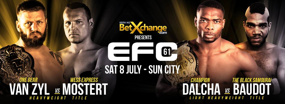 MMA action returns to Sun City for EFC 61