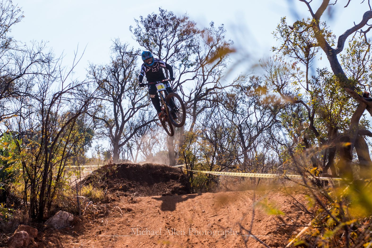 Christopher Philogene riding his way to victory at Round 4 of the National Downhill MTB Cup Series