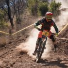 Cullen McMaster riding his way to 3rd place at Round 4 of the National Downhill MTB Cup Series