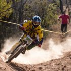 Frank Meyer riding his way to 2nd place at Round 4 of the National Downhill MTB Cup Series