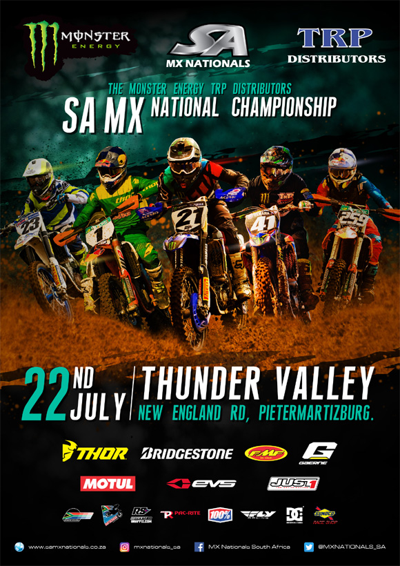 Round 5 of the 2017 Monster Energy TRP Distributors SA National Motocross Championship heads to Thunder Valley